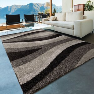 Fred Shag Black Area Rug
