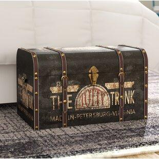 helina large vintage decorative home storage trunk - Storage Chest Trunk
