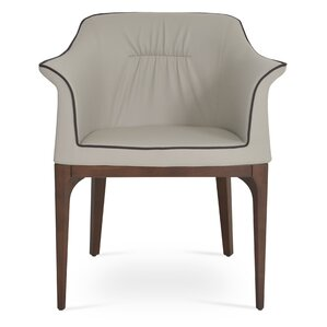 London Genuine Leather Upholstered Dining Chair by sohoConcept