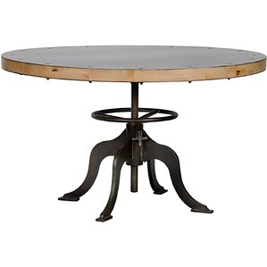 Sandwich Top Metal Dining Table by Noir