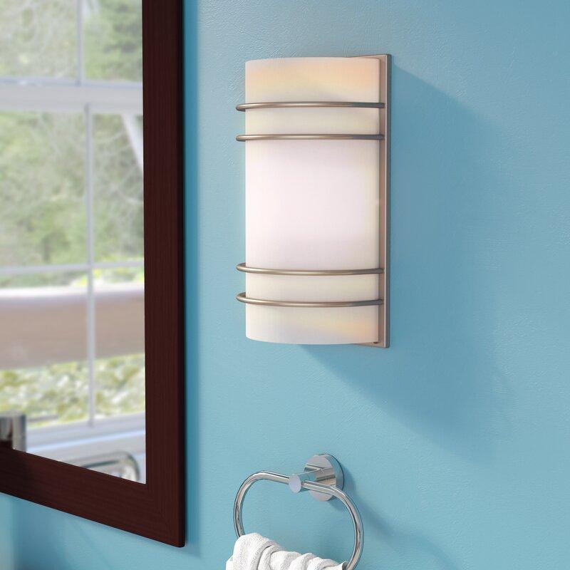 Zipcode Design Amira Light Wall Sconce Reviews Wayfair - 2 light bathroom sconce