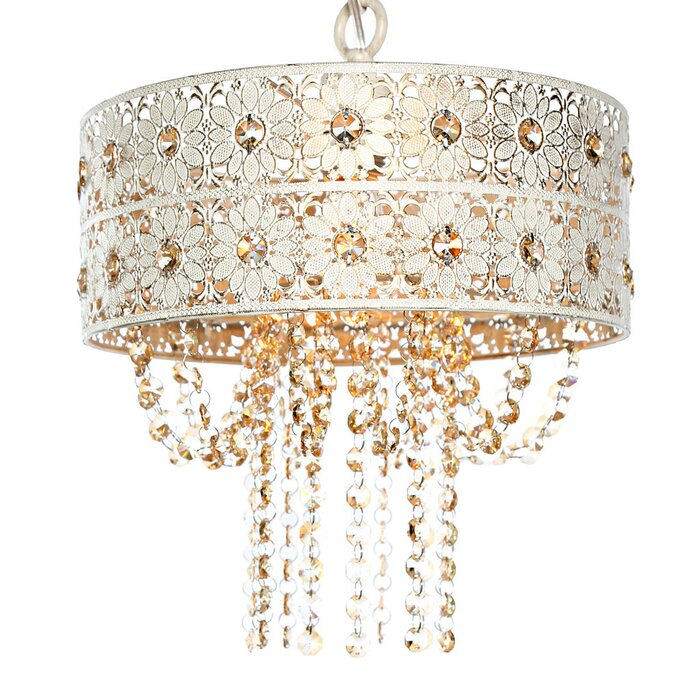 House of hampton overton jeweled blossoms 1 light drum pendant overton jeweled blossoms 1 light drum pendant aloadofball Choice Image