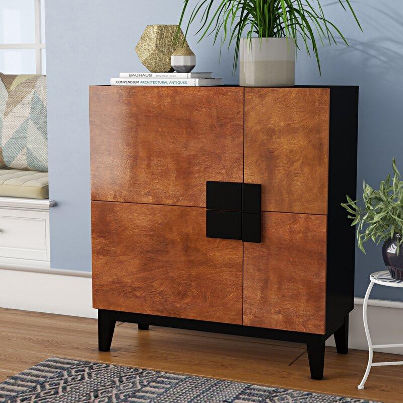 Wrought Studio Menke 4 Door Accent Cabinet Amp Reviews Wayfair