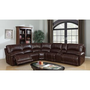 quyen power gel leather reclining sectional