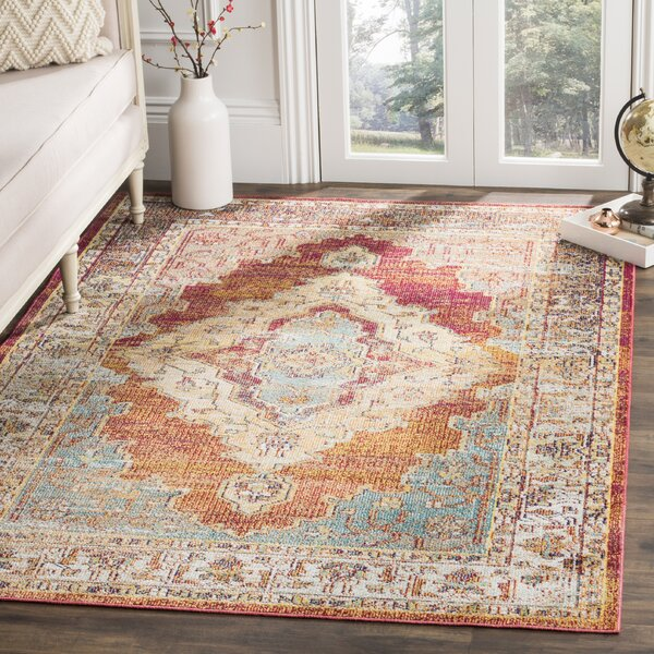shipping area garden x rug product orange safavieh blue crystal home free