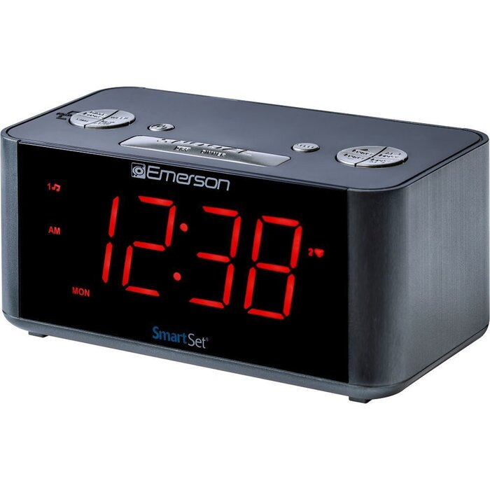SmartSet Alarm Radio with Bluetooth Speaker Desktop Clock
