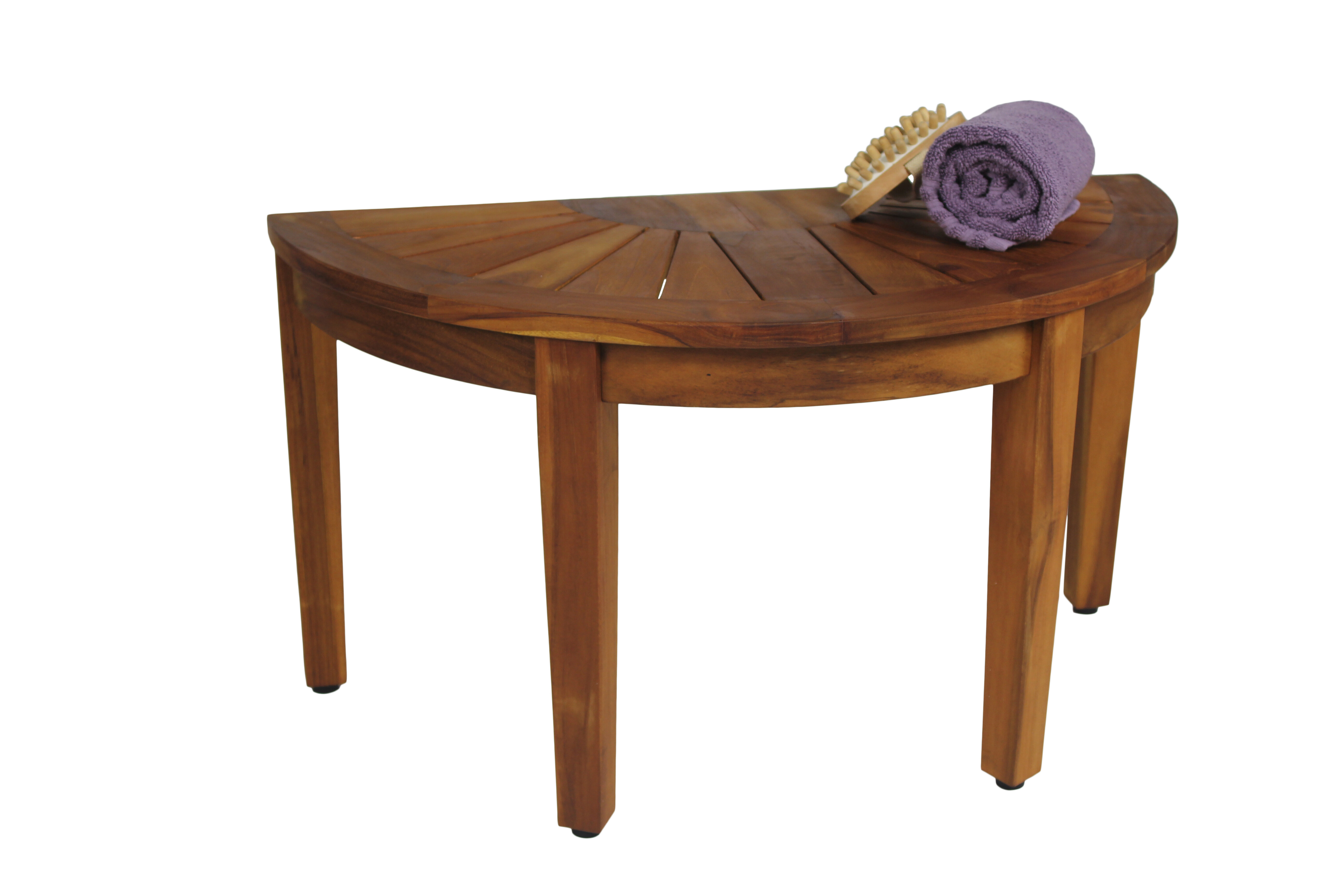 caddy sofi today stool bedding solid shower bath product free in bare decor teak shipping wood overstock