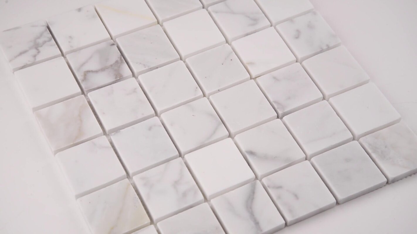 Msi calacatta gold mounted 2 x 2 marble mosaic tile in white calacatta gold mounted 2 x 2 marble mosaic tile in white dailygadgetfo Image collections