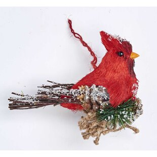 red cardinal ornaments wayfair