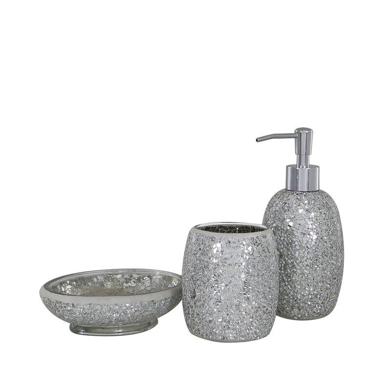 Mosaic 3 Piece Bathroom Accessories Set