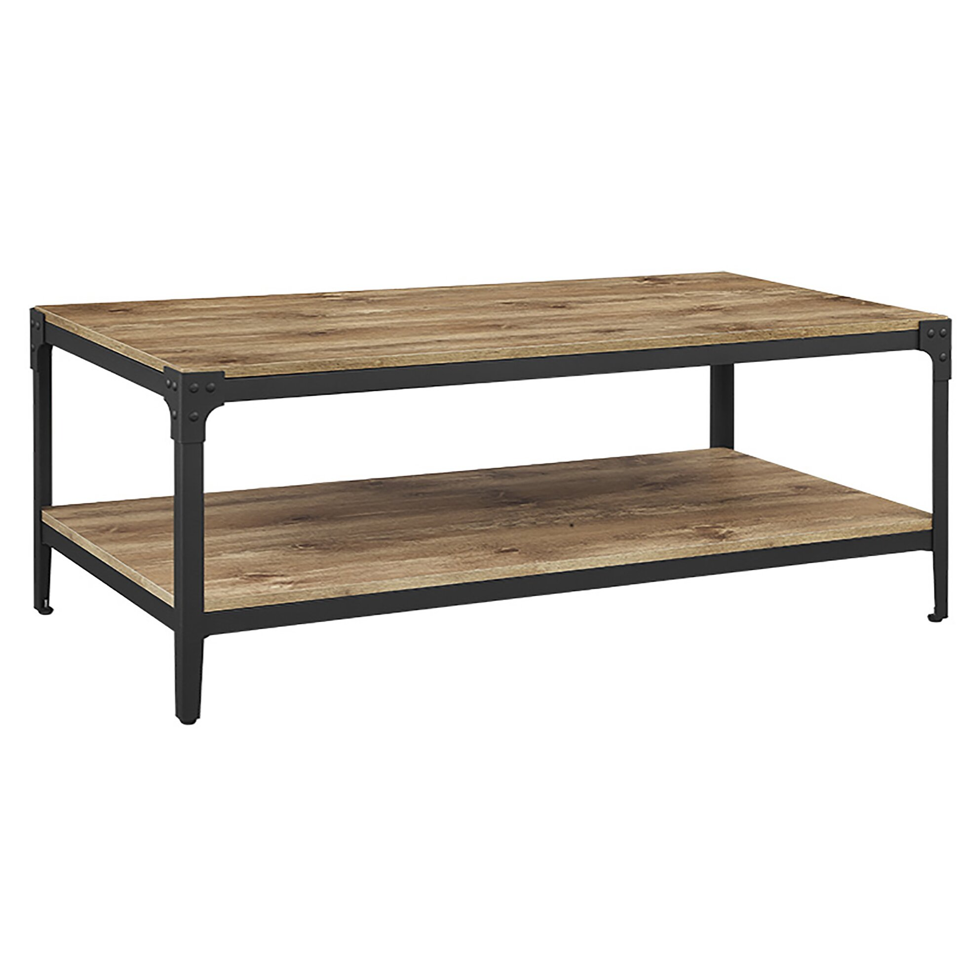 Arboleda Rustic Wood Coffee Table Amp Reviews Allmodern