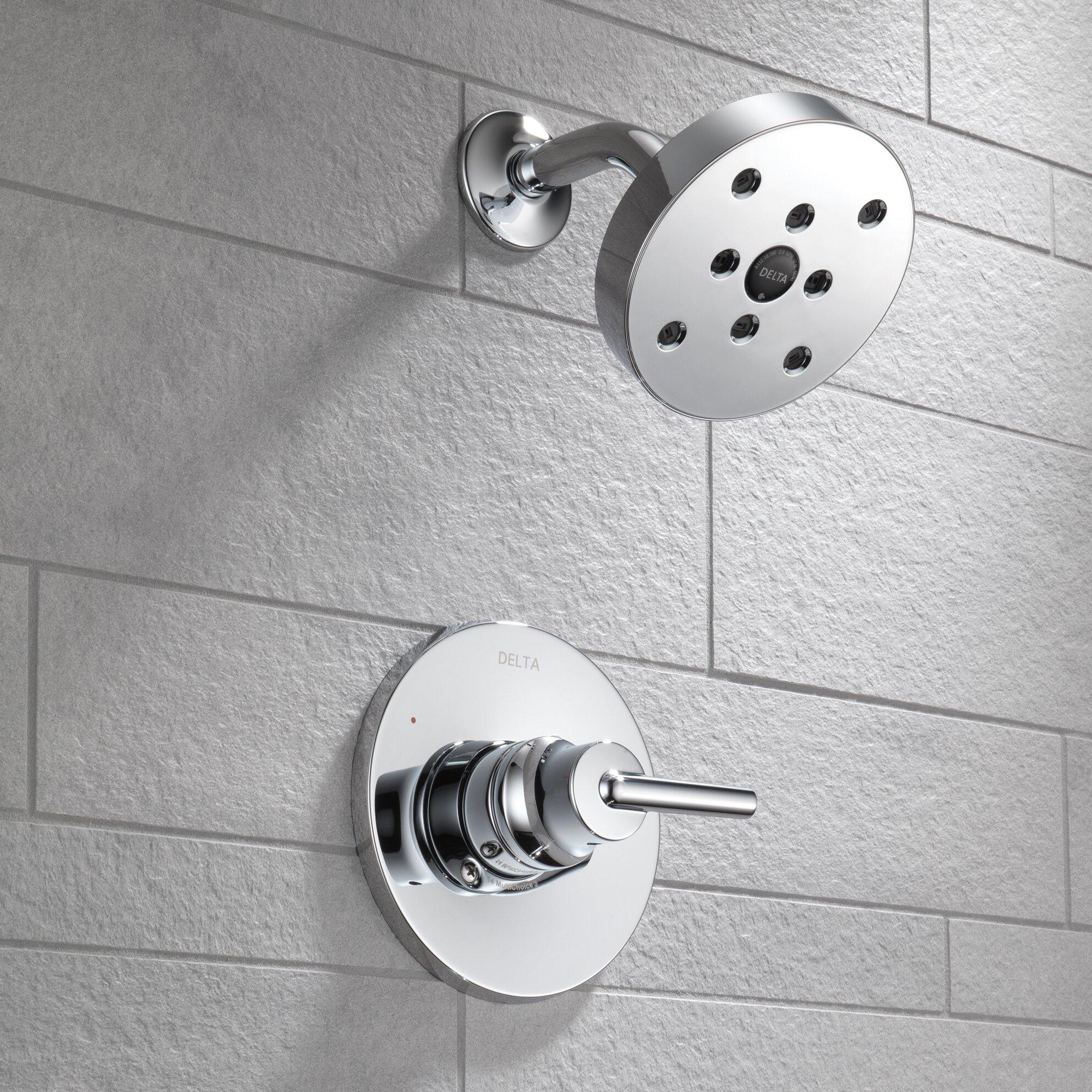 Bathroom showers head - Trinsic Bathroom Shower Faucet Trim With Lever Handles