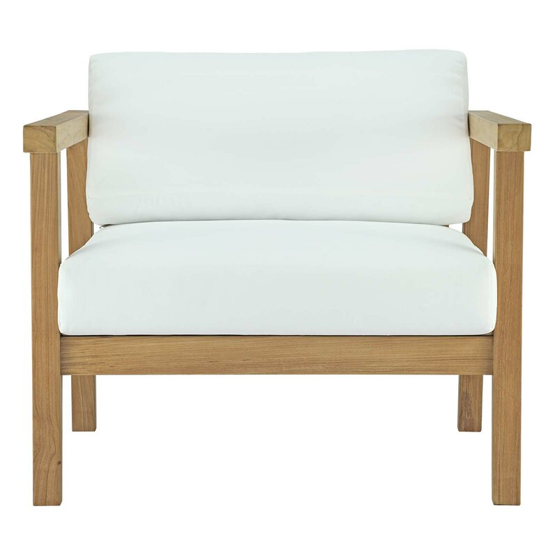 Bayou Breeze Edmeston Outdoor Teak Chair With Cushions
