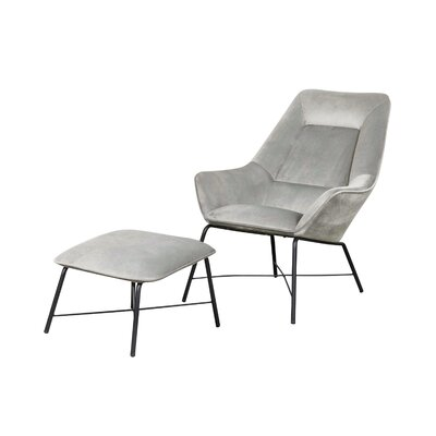 Wrought Studio Camilla Armchair Upholstery Color: Silver