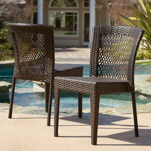 caraquet outdoor wicker chair set of 2 - Wayfair Dining Chairs