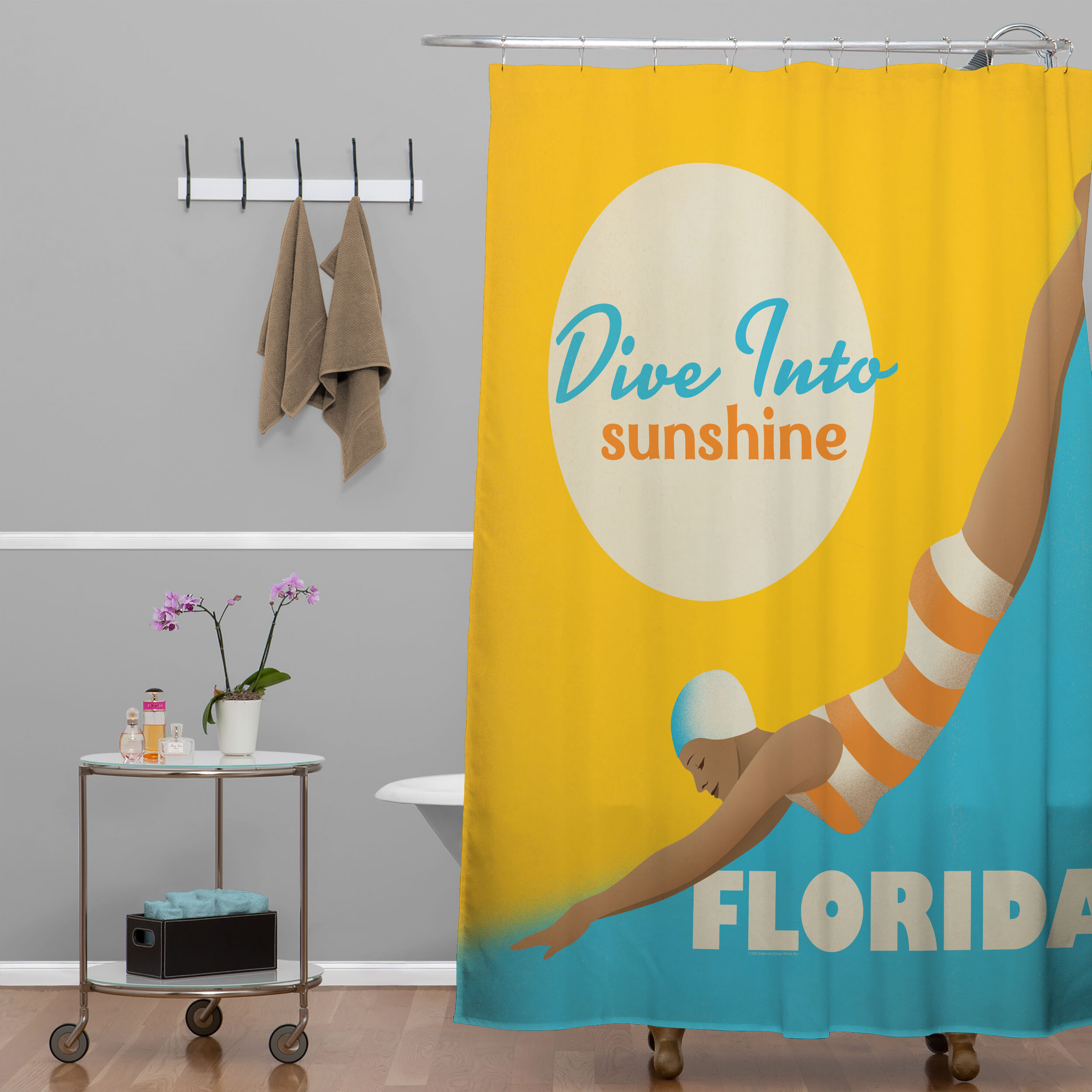 Deny Designs Anderson Design Group Dive Florida Shower Curtain Reviews