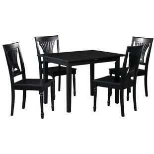 Spiller 5 Piece Extendable Solid Wood Dining Set