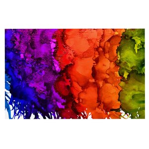 Claire Day 'Rainbow Splatter' Decorative Doormat
