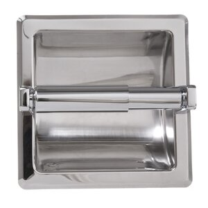 Recessed Toilet Paper Holder with Galvanized Mount Plate