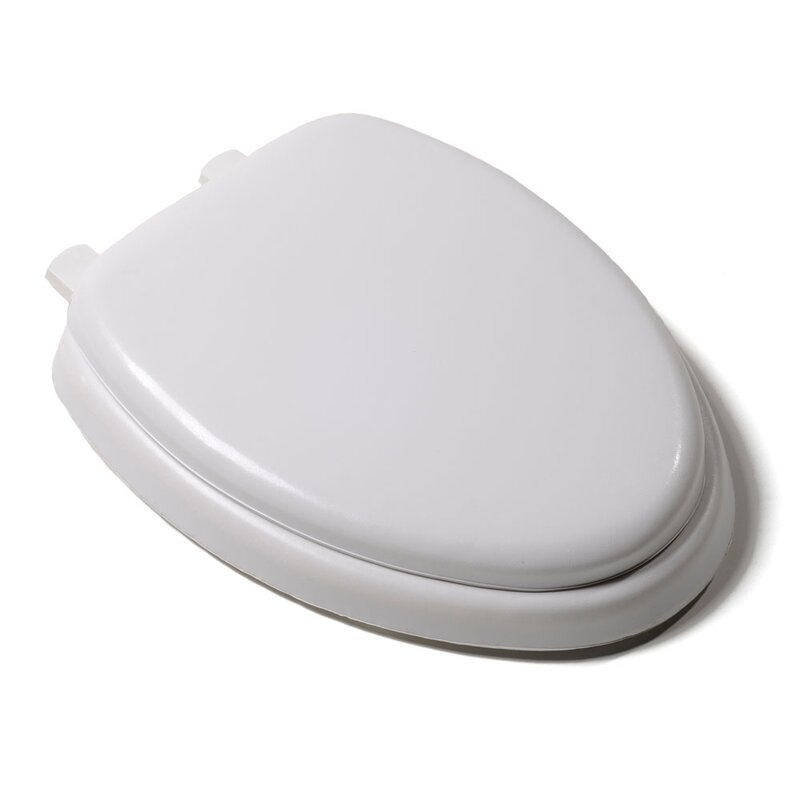 ivory toilet seat soft close. Deluxe Soft Elongated Toilet Seat Hard Seats You ll Love  Wayfair