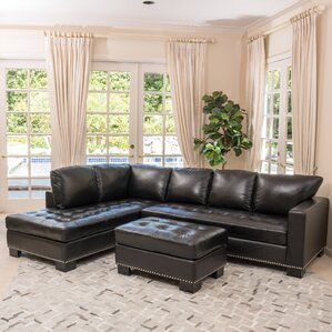Gains Leather Sectional by Home Loft Concepts