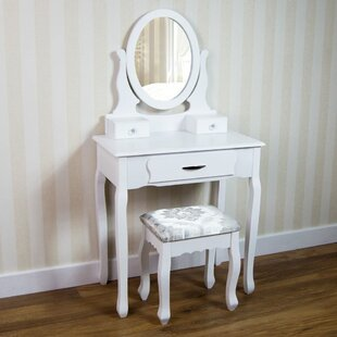 Vida Nishano Dressing Table Set With Mirror