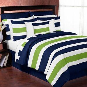 Kids Comforter Sets Youll Love Wayfair - Contemporary green comforter set