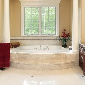whirlpool tub. Designer Largo 82  x 64 Whirlpool Bathtub Tubs You ll Love Wayfair