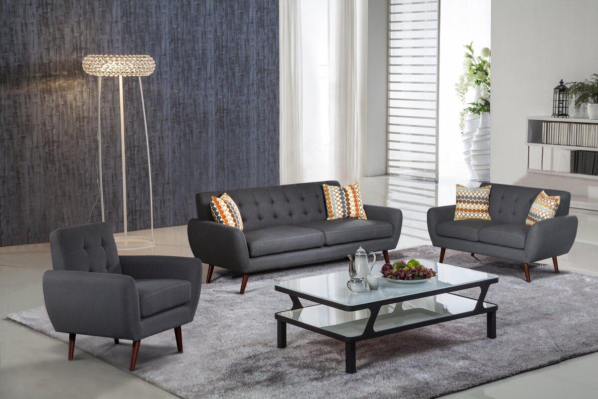 diara 3 piece living room set