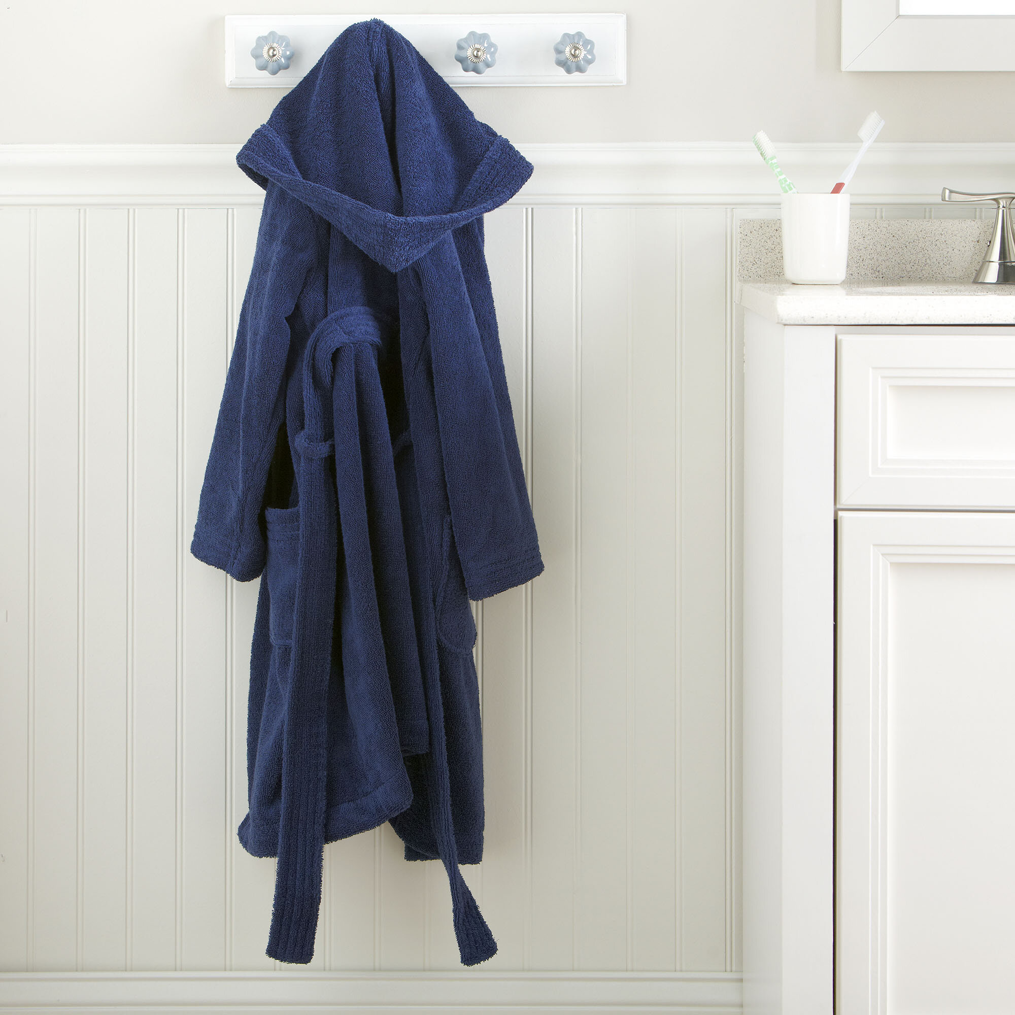 9bc8765983 Harriet Bee Southsea 100% Cotton Terry Cloth Bathrobe   Reviews ...