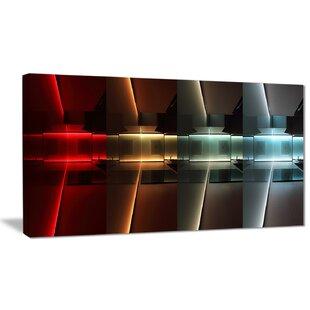 U0027Kitchen With LED Lightingu0027 Graphic Art On Wrapped Canvas