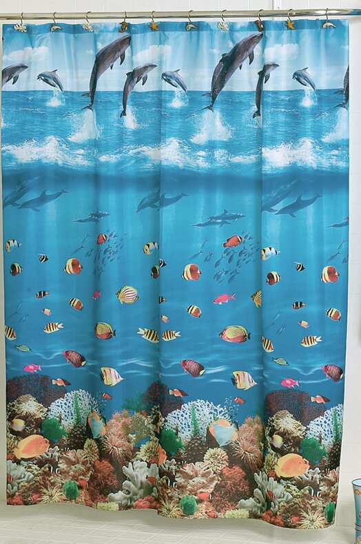 Ben And Jonah Seascape Shower Curtain