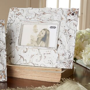 White Washed Distressed Antique Inspired Picture Frame