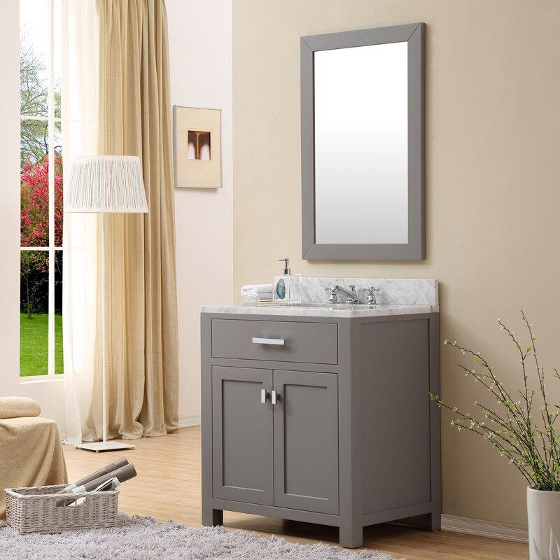 Minnetrista 24 Single Bathroom Vanity Set With Mirror