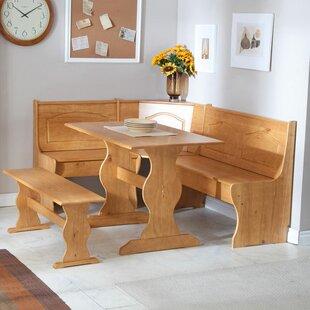 Corner Table For Kitchen Corner kitchen table nook sets wayfair patty 3 piece nook dining set workwithnaturefo