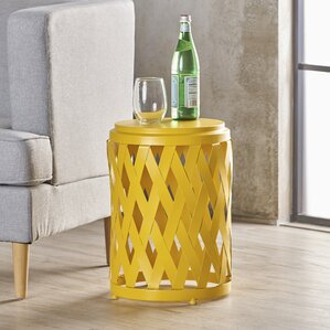 Ramiro Modern Indoor Iron End Table by Varick Gallery