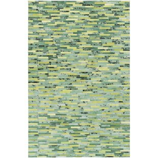 Denver Hand Woven Lime Kelly Green Area Rug