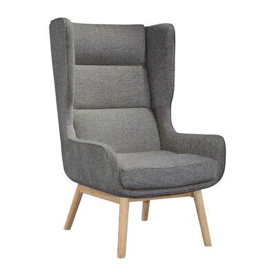 Brayden Studio Cristy Wingback Chair Upholstery Color: Dark Gray