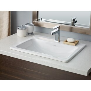 Manhattan Vitreous China Rectangular Drop In Bathroom Sink With Overflow