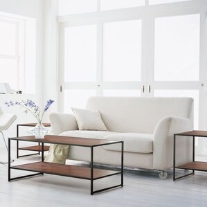 black coffee table sets - coffee tables | wayfair