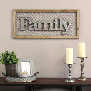 Framed Family Sign Wall Décor