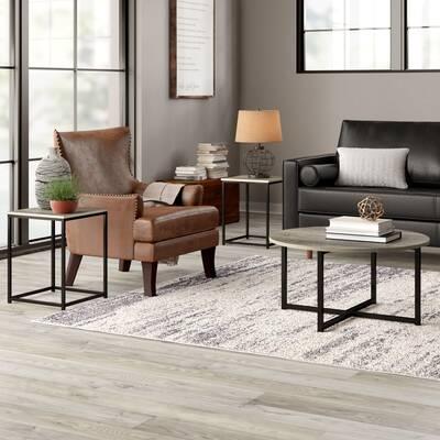 8b76d6d3799 Rhonda 3-Pc Brown Wood Coffee Table Set by Crown Mark 4247SET Living Room Table  Sets