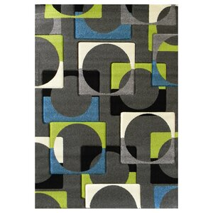 Studio 609 Charcoal Geometric Area Rug