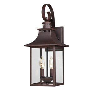 Lathan 2-Light Outdoor Wall Lantern