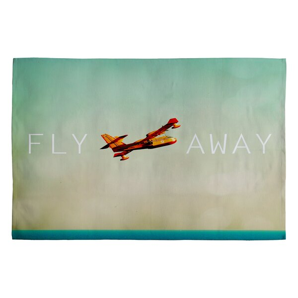 Patio Umbrella Flying Away: Deny Designs Happee Monkee Fly Away Novelty Rug