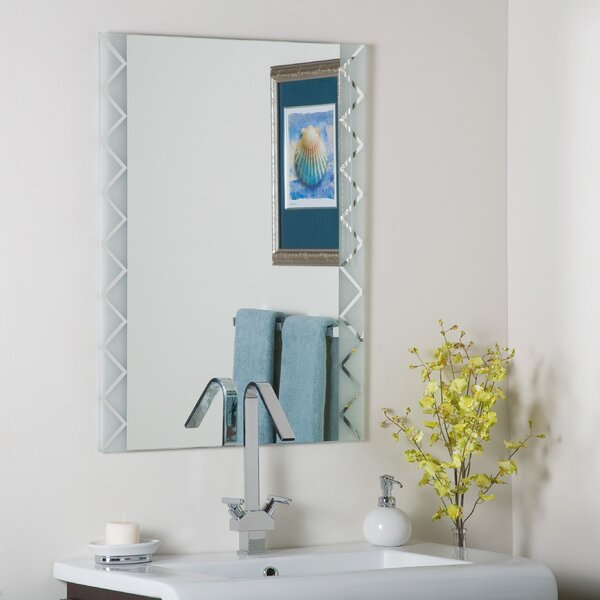 Frameless Glass Coffee Table: Decor Wonderland Frameless Butterfly Wall Mirror & Reviews