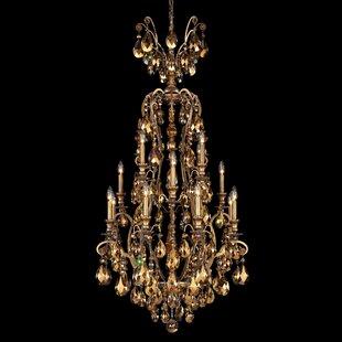Schonbek chandeliers youll love wayfair renaissance 16 light candle style chandelier by schonbek aloadofball Image collections