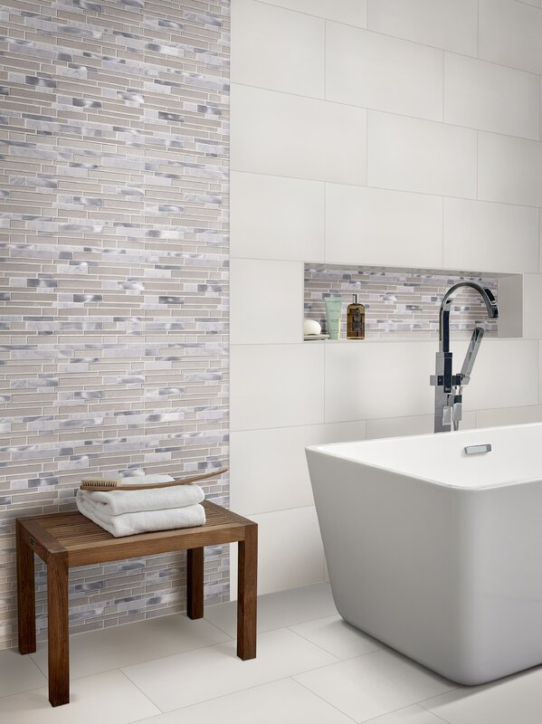Domino 12 X 24 Porcelain Field Tile In Matte White