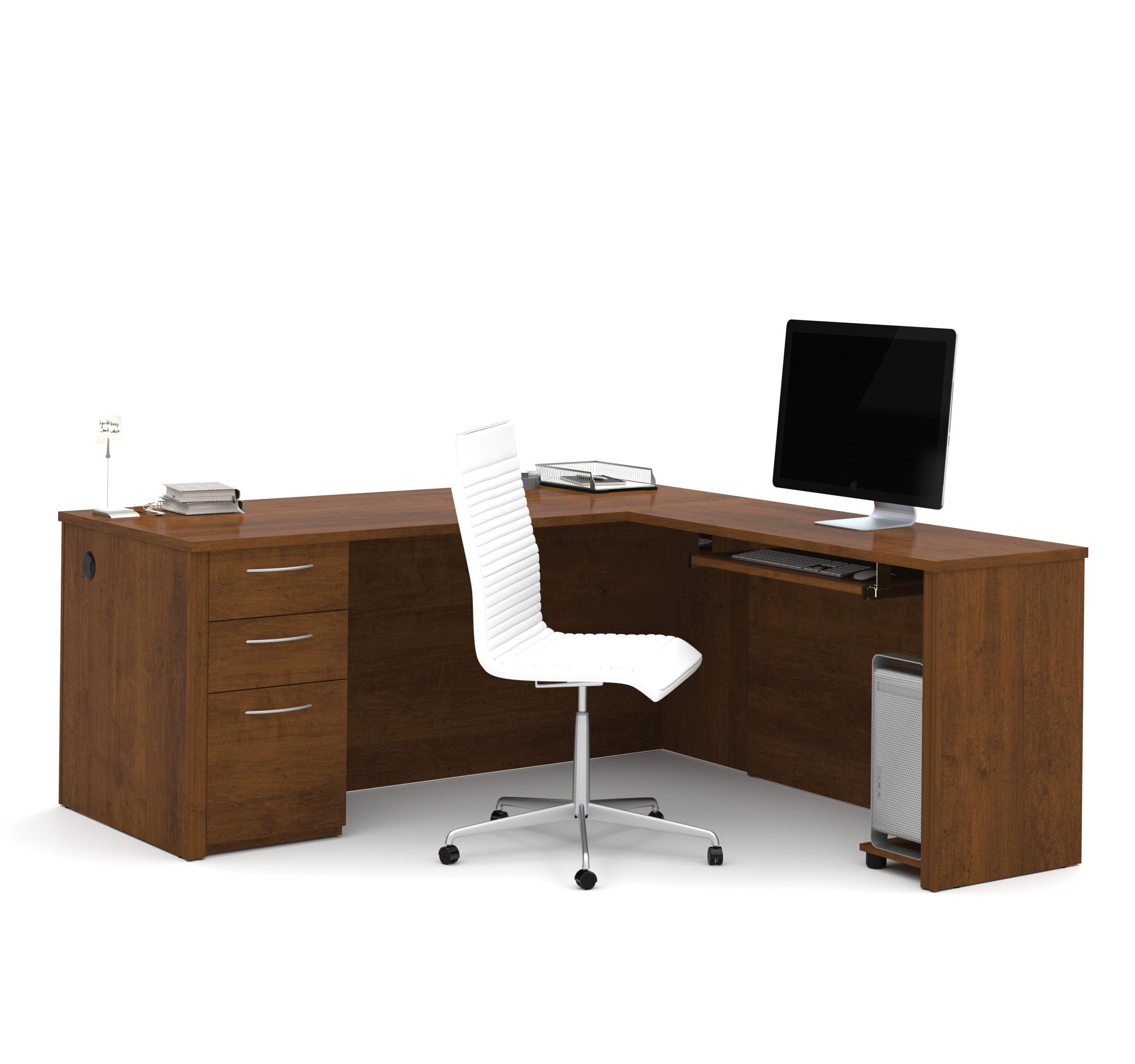 Zipcode Design Lexington L Shape Pedestal Computer Desk U0026 Reviews   Wayfair