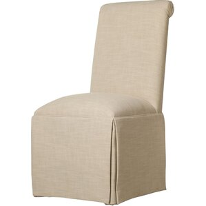 Arvidson Solid Back Skirted Upholstered Dining Chair by Latitude Run